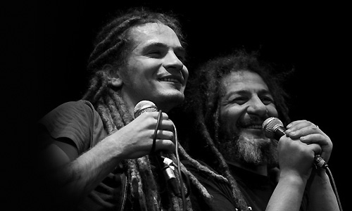 Аддис Абеба и Гера Моралес на фестивале МОЖНО!. Фото Gluk_Tigra