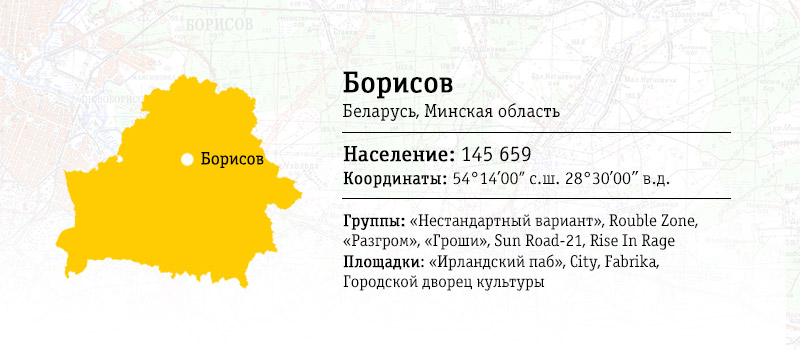 Карта местности: Борисов